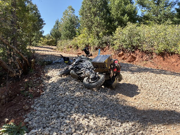 Lifting a dropped motorcycle 2